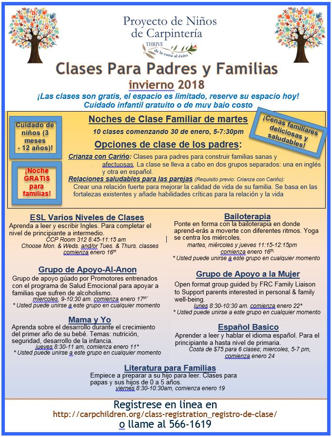 All Class flyer-Winter 2018 Spanish image
